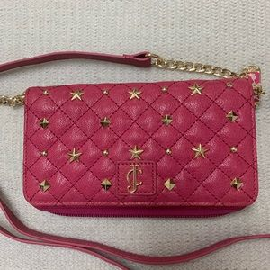 Juicy Couture Leather Stud Tech Wallet Crossbody